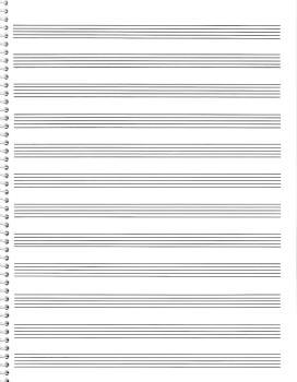 85. Spiral Book 12-Stave: Passantino Manuscript Paper (HL-14025121)