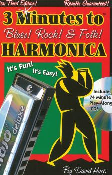 3 Minutes to Blues, Rock & Folk Harmonica (Third Edition) (HL-14036996)