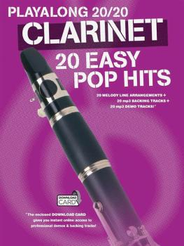 Play Along 20/20 Clarinet (20 Easy Pop Hits) (HL-14043734)