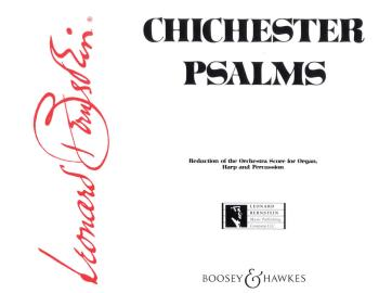 Chichester Psalms: Reduced Orchestration Score and Parts (HL-48001502)