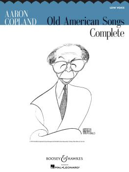 Aaron Copland: Old American Songs Complete (Low Voice) (HL-48018784)