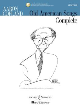 Aaron Copland - Old American Songs Complete (Low Voice) (Low Voice) (HL-48019955)