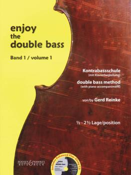 Enjoy the Double Bass: Volume 1 1.5-2.5 position Double Bass Method wi (HL-48020975)