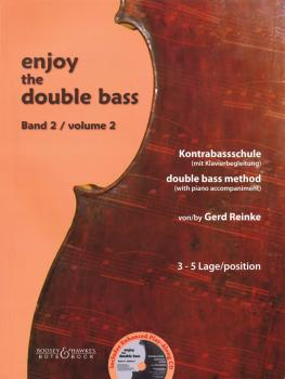 Enjoy the Double Bass: Volume 2 3-5 position Double Bass Method with P (HL-48020976)