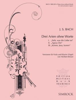 3 Arias Without Words: Viola and Piano or Organ (HL-48023773)