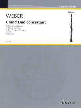 Grand Duo Concertante in E-flat Major, Op. 48 (Clarinet and Piano) (HL-49014188)