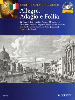 Allegro, Adagio E Follia (For Violin and Keyboard, with optional Cello (HL-49016680)