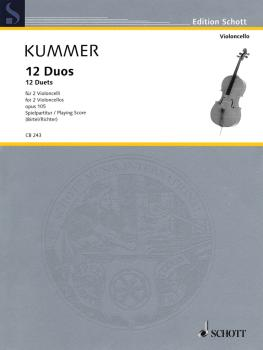 12 Duets, Op. 105: Two Violoncellos Performance Score (HL-49019118)