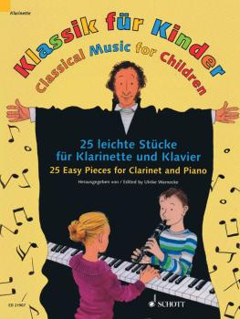 Classical Music for Children: 25 Easy Pieces for Clarinet and Piano (HL-49044747)