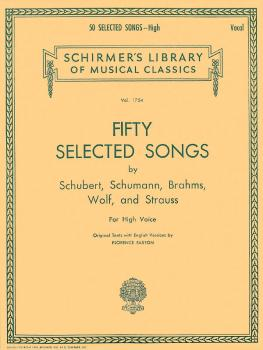 50 Selected Songs by Schubert, Schumann, Brahms, Wolf & Strauss (High  (HL-50261420)