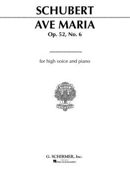 Ave Maria: Medium High Voice in B-Flat (HL-50273800)