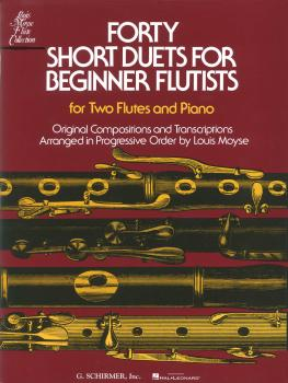 Forty Short Duets for Beginner Flutists (for Two Flutes & Piano) (HL-50331570)
