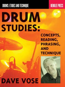 Drum Studies: Concepts, Reading, Phrasing and Technique (HL-50449617)