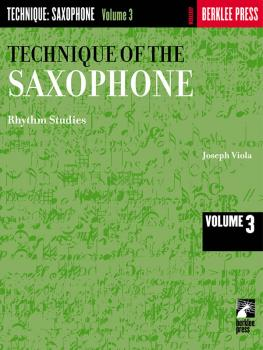 Technique of the Saxophone - Volume 3 (Rhythm Studies) (HL-50449840)
