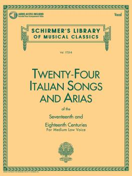 24 Italian Songs & Arias of the 17th & 18th Centuries: Medium Low Voic (HL-50481593)