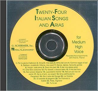 24 Italian Songs & Arias - Medium High Voice (Accompaniment CD): Mediu (HL-50483037)