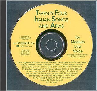 24 Italian Songs & Arias - Medium Low Voice (Accompaniment CD) (Medium (HL-50483038)