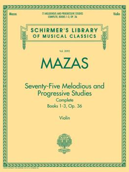 75 Melodious and Progressive Studies Complete, Op. 36: Schirmer's Libr (HL-50490035)
