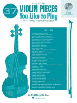 37 Violin Pieces You Like to Play: Two Accompaniment CDs (HL-50490454)
