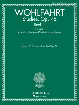 Studies, Op. 45 - Book I (For Violin with Newly Composed Violin Accomp (HL-50499882)