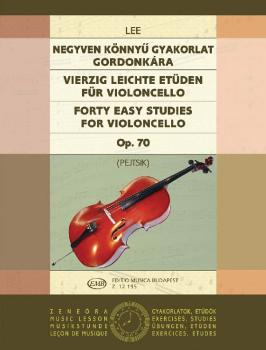40 Easy Studies for Violoncello in the First Position, Op. 70 (HL-50510900)