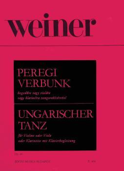 Peregi Verbunk Op. 40 for Violin, Viola or Clarinet and Piano: Hungari (HL-50510906)