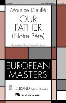 Our Father (Notre Pére) (SATB unaccompanied) (HL-50600002)
