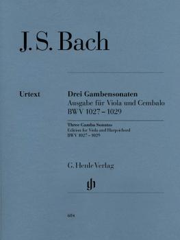 Sonatas for Viola da Gamba and Harpsichord BWV 1027-1029 (Viola Solo) (HL-51480684)