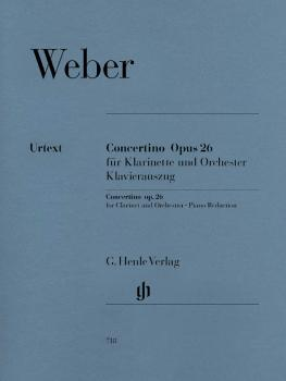 Concertino, Op. 26 (for Clarinet & Piano Reduction with Urtext and Bär (HL-51480718)