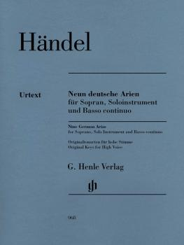 9 German Arias for Soprano, Solo Instrument and Basso Continuo: Neun d (HL-51480968)