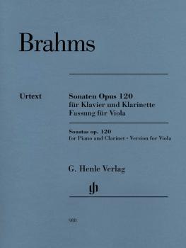 Clarinet Sonata (or Viola) Op. 120 Nos. 1-2: Version for Viola Revised (HL-51480988)