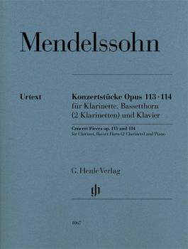 Concert Pieces Op. 113 and 114 (for Clarinet, Basset Horn or 2 Clarine (HL-51481067)