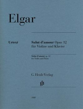 Salut d'amour Op. 12 (for Violin and Piano with Marked and Unmarked St (HL-51481188)