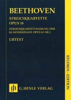 String Quartets Op. 18 and String Quartet Version of the Piano Sonata  (HL-51489139)