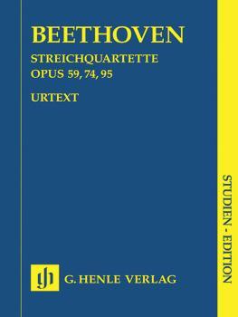 String Quartets Op. 59, 74, 95 (Study Score) (HL-51489268)