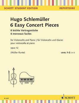 6 Easy Concert Pieces, Op. 12 (for Cello and Piano) (HL-49045443)