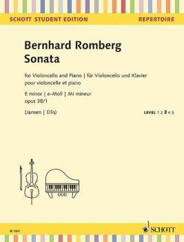 Sonata in E Minor, Op. 38, No. 1: Cello and Piano or 3 Cellos, Level 3 (HL-49045501)