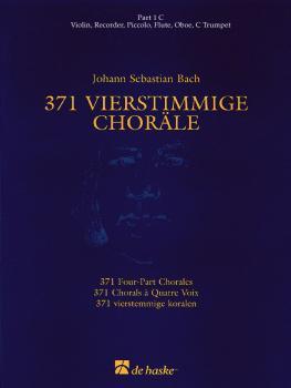 371 Vierstimmige Choräle (Four-Part Chorales): Part 1 in C - Treble Cl (HL-44003550)