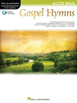 Gospel Hymns for Alto Sax: Instrumental Play-Along (HL-00194650)