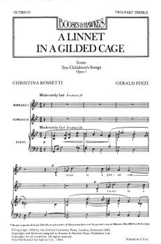 A Linnet in a Gilded Cage (from Ten Children's Songs, Op. 1) (HL-48010819)