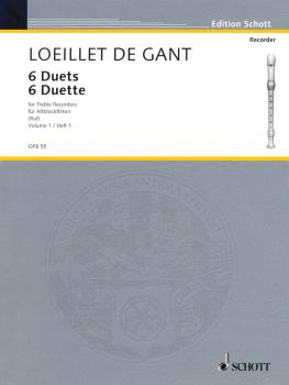 6 Duets - Volume 1 (for 2 Treble Recorders Flutes, Oboes, Violins - Pe (HL-49011355)