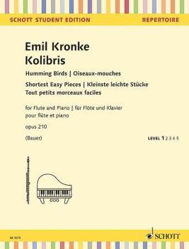 Kolibris [Humming Birds], Op. 210 - Shortest Easy Pieces (for Flute an (HL-49045549)