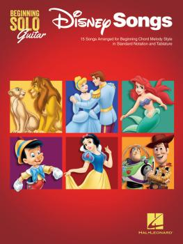 Disney Songs - Beginning Solo Guitar: 15 Songs Arranged for Beginning  (HL-00237494)