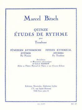 Fifteen Rhythmical Studies for Trombone: [Quinze Études de Rythme pour (HL-48181775)
