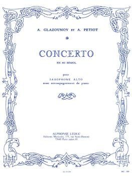 Saxophone Concerto Op. 109 in E Flat (for Alto Sax and Piano) (HL-48180796)