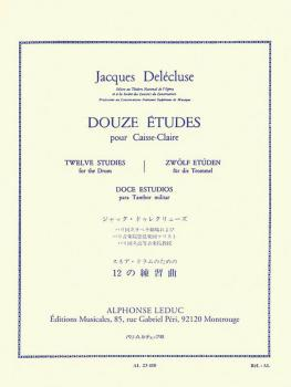 Douze Etudes Pour Caisse-Claire: [Twelve Studies for the Snare Drum] (HL-48182296)