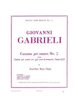 Canzona Per Sonare No. 2 for Four-Part Brass Choir (HL-48184911)