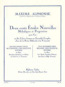 Deux cents Études Nouvelles Mélodiques et Progressives Pour Cor - Cahi (HL-48180155)