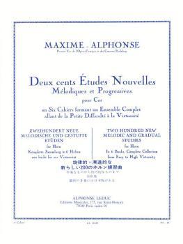 Deux cents Études Nouvelles Mélodiques et Progressives Pour Cor - Cahi (HL-48180223)