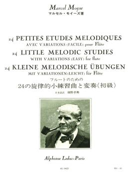 24 Petites Etudes Melodiques Avec Variations (Facile) pour Flute: [24  (HL-48180522)